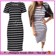 image of (MY Ready Stock) Striped Dress Plus Size Batch 1 LH78
