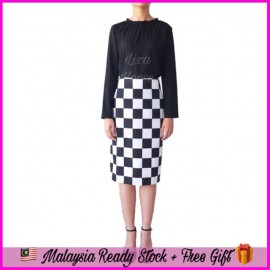 image of (MY Ready Stock) Checkered Skirt LH135
