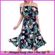 image of (KL Ready Stock) Floral Off Shoulder Dress LH136