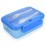 image of Thermocafe 1.0L Double Wall Lunch Container complete with Cultery Set