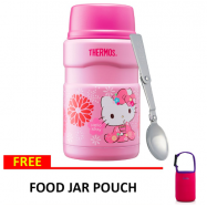 image of Thermos 0.71L Hello Kitty King Food Jar with Spoon Free Pouch SK-3021KT(KMN)