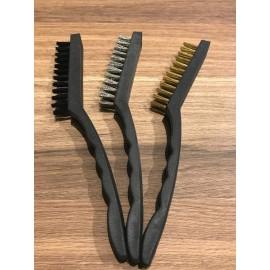 image of 3 Pieces Mini Wire Brush Set