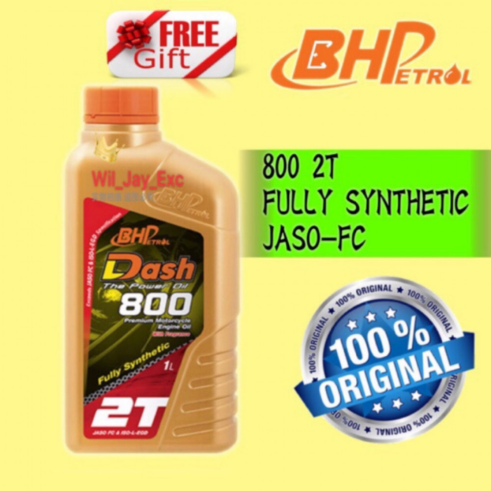 1 LITER BHP DASH 800 2T (FULLY SYNTHETIC) 10W40 MOTORCYCLE OIL