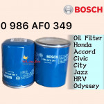 BOSCH OIL FILTER 349 HONDA ACCORD,CIVIC,CITY,JAZZ,HRV,ODYSSEY,CRV 0 986 AF0 349