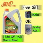 BHP 3 LITER 10W30 (SYNGARD K) FREE GIFT OIL FILTER