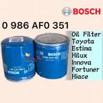 BOSCH OIL FILTER 351 TOYOTA ESTIMA,HILUX,INNOVA,FORTUNER,HIACE,CAMRY