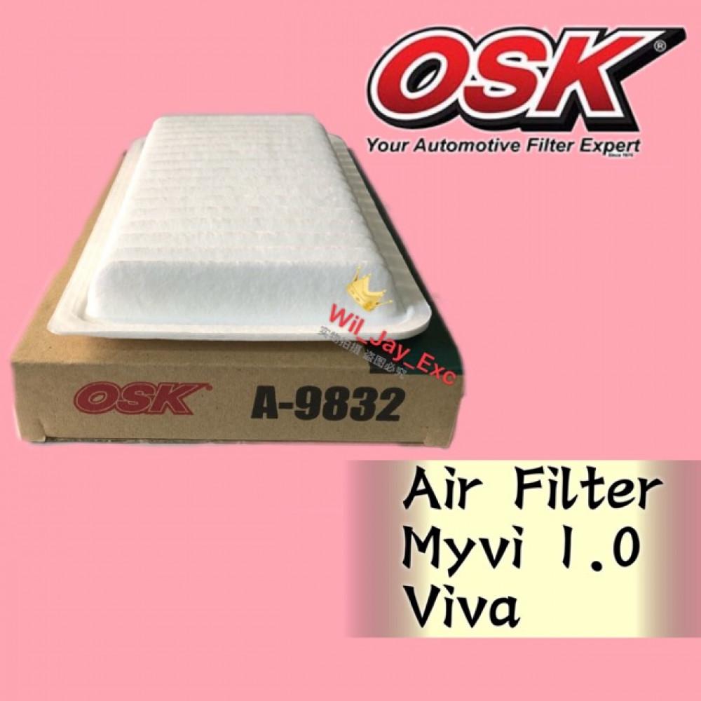 OSK AIR FILTER MYVI 1.0cc, VIVA A-9832 (17801-B2010)