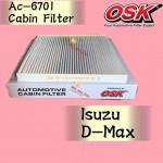 OSK CABIN FILTER AC-6701 ISUZU D-MAX 2002-2012 AUR COND FILTER DMAX