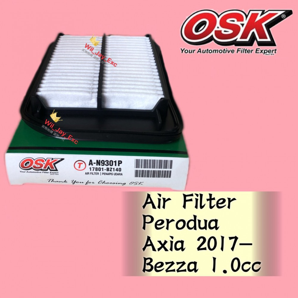 OSK AIR FILTER A-N9301P AXIA 2017,BEZZA 1.0CC