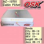 OSK CABIN FILTER HONDA CITY,CRZ,HRV,INSIGHT,JAZZ AC-10701
