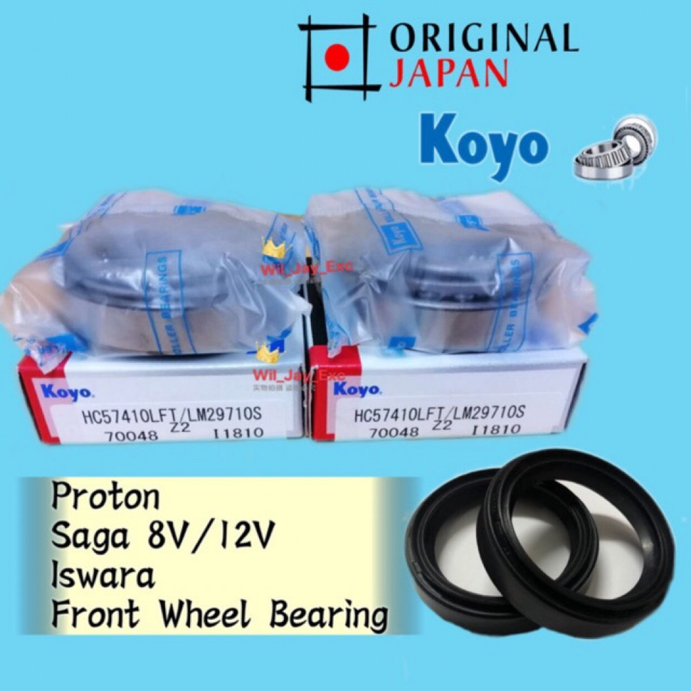 PROTON SAGA 8V/12V, ISWARA FRONT WHEEL BEARING(KOYO JAPAN) WITH OIL SEAL 2 PCS