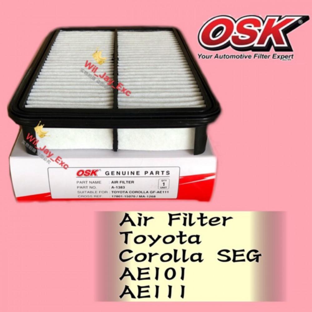 OSK AIR FILTER A-1383 TOYOTA COROLLA SEG AE101 , AE111