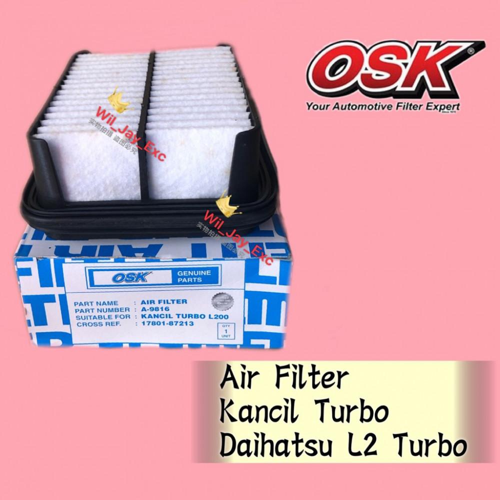 OSK AIR FILTER A-9816 KANCIL TURBO, DAIHATSU L2 TURBO