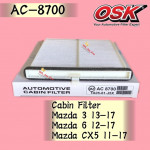 OSK CABIN FILTER AC-8700 MAZDA 3, MAZDA 6, MAZDA CX-5 CX5 AIRCOND FILTER