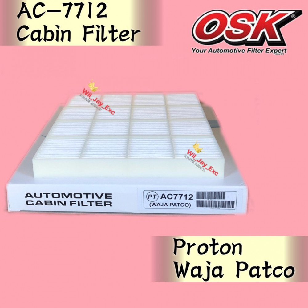 OSK CABIN FILTER WAJA PATCO TYPE AC-7712 AIR COND FILTER