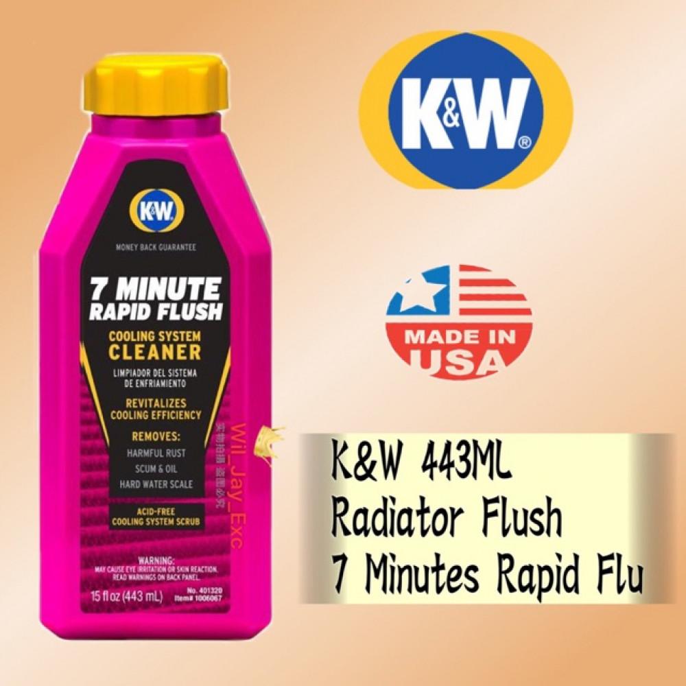 K&W RADIATOR FLUSH 7 MINUTE RAPID FLUSH 443ML KW RADIATOR CLEANER