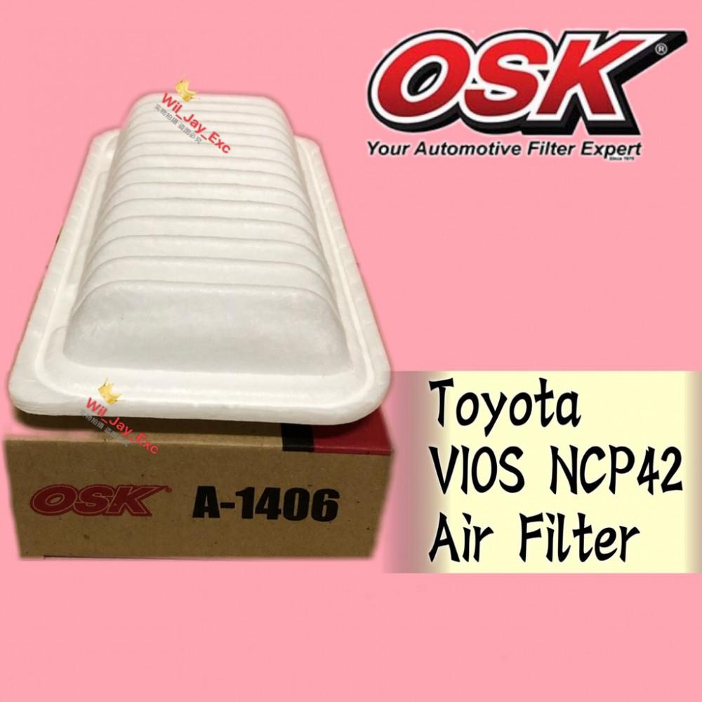OSK TOYOTA VIOS NCP42 AIR FILTER A-1406 (17801-21030)