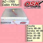 OSK CABIN FILTER COROLLA,YARIS,ALTIS,PRIUS,WISH,RAV4 AC-1705 toyota