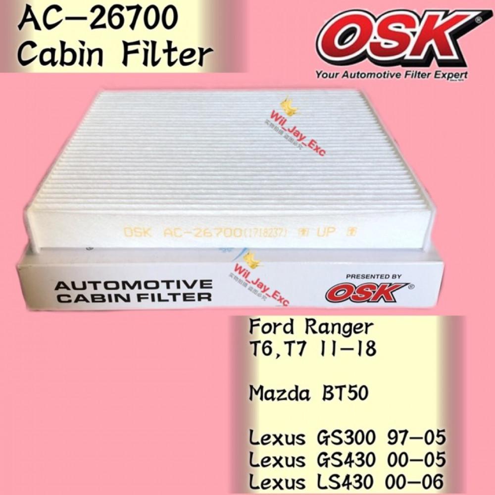 OSK FORD RANGER T6,T7 ,MAZDA BT50,LEXUS GS300,GS430,LS430 CABIN FILTER AC-26700