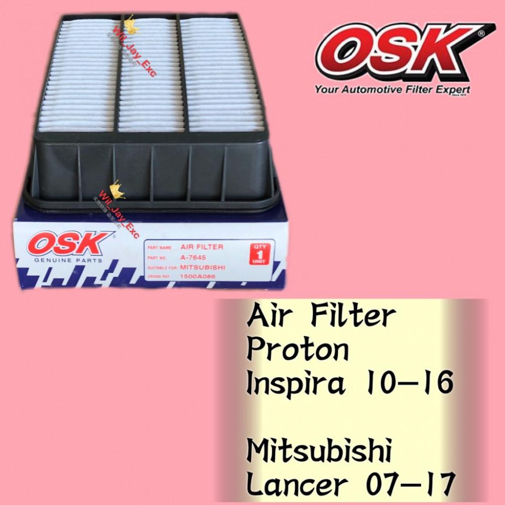 OSK AIR FILTER A-N7645 PROTON INSPIRA, MITSUBISHI LANCER