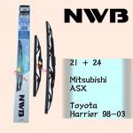 NWB GRAPHITE WIPER BLADE AQUA JAPAN (21+24)