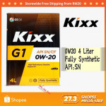 4 LITER KIXX G1 0W20 ENGINE OIL FULLY SYHTHENTIC