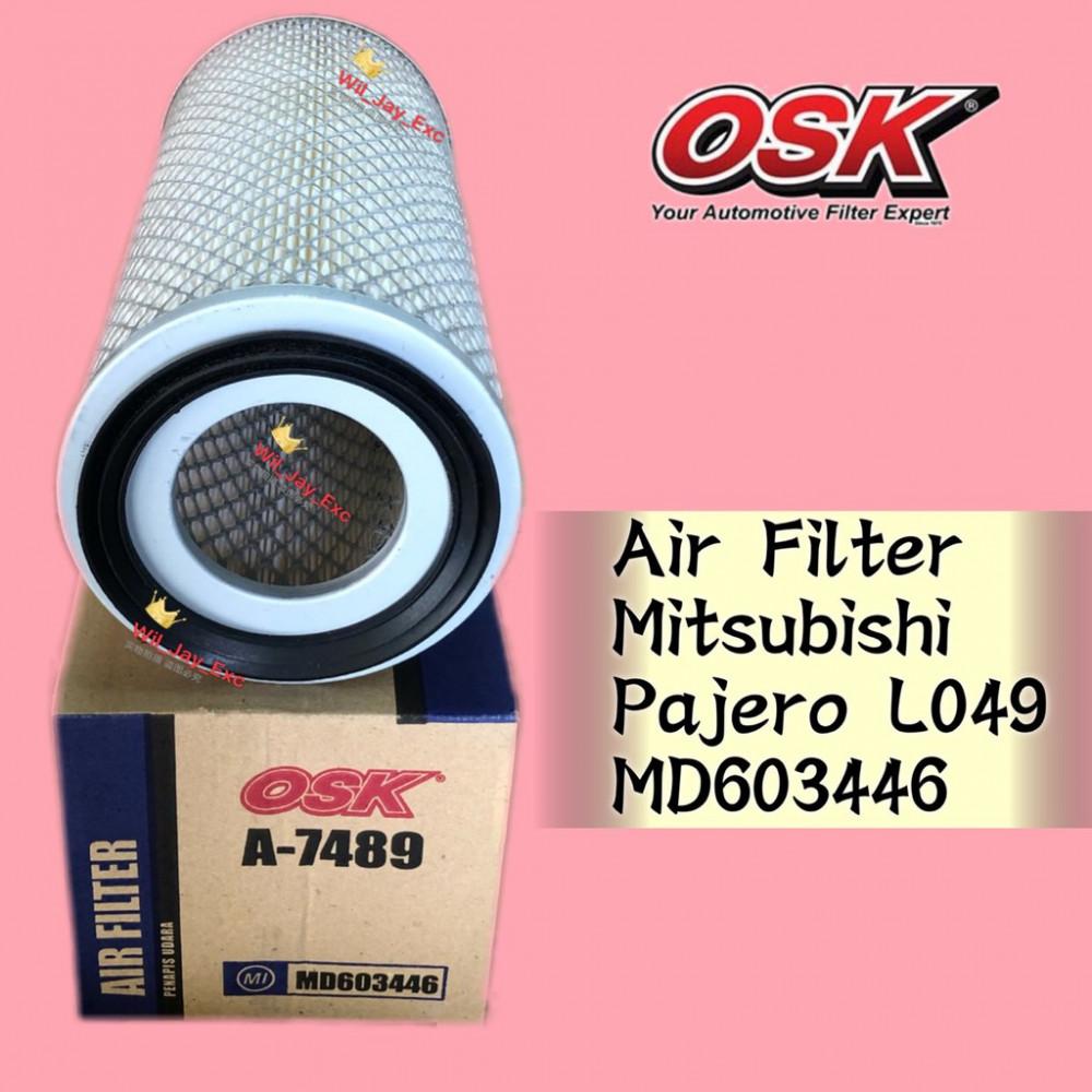 OSK AIR FILTER A-7489 MITSUBISHI PAJERO L049 MD603446