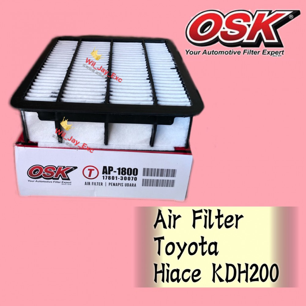 OSK AIR FILTER AP-1800 TOYOTA HIACE KDH200