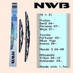 "NWB GRAPHITE WIPER BLADE AQUA JAPAN (19""+21"")(GEN2,FORTUNER,INNOVA,PERSONA)"