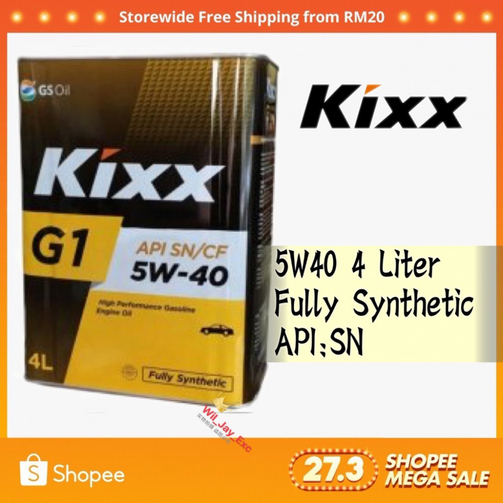 4 LITER KIXX G1 5W40 ENGINE OIL FULLY SYNTHENTIC