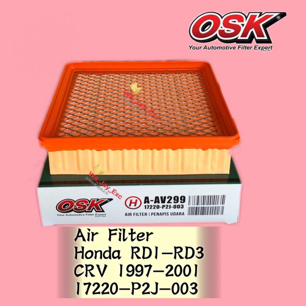 OSK AIR FILTYE A-AV299 HONDA CRV CR-V 1997-2001 RD1 RD2 RD3