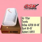 OSK AIR FILTER A-1409 TOYOTA ESTIMA, RAV4, ALPHARD