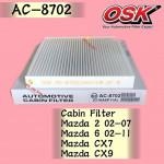 OSK CABIN FILTER AC-8702 MAZDA 2, MAZDA 6, CX-7, CX-9, CX7, CX9 AIRCOND FILTER