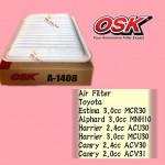 OSK AIR FILTER A-1408 TOYOTA ESTIMA,ALPHARD,HARRIER,CAMRY