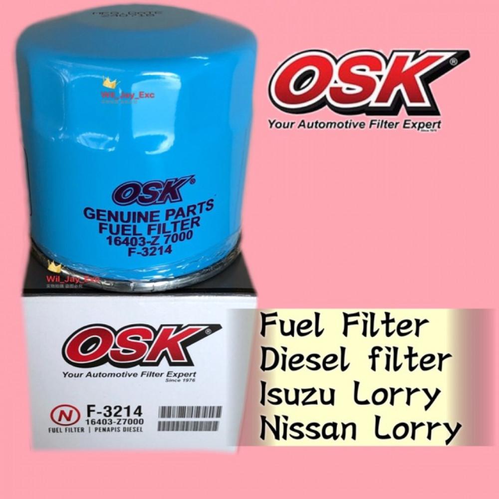 OSK FUEL FILTER, DIESEL FILTER F-3214 ISUZU & NISSAN LORRY,DMAX 2.5cc