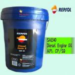 18 LITER REPSOL SAE40 DIESEL ENGINE OIL