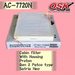 OSK CABIN FILTER AC-7720N WITH CASING PROTON GEN2 GEN 2 PATCO TYPE,SATRIA NEO AIRCOND FILTER