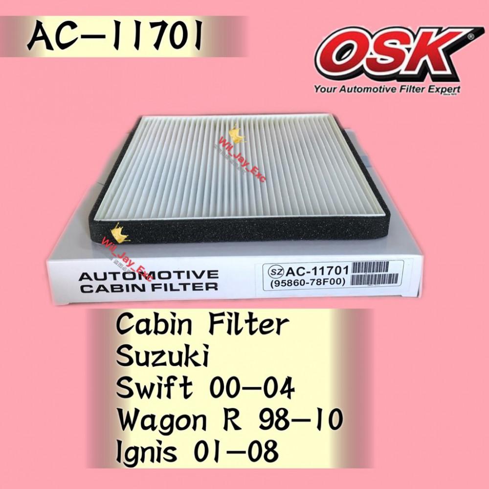 OSK CABIN FILTER AC-11701 SUZUKI SWIFT,WAGON R,IGNIS AIRCOND FILTER