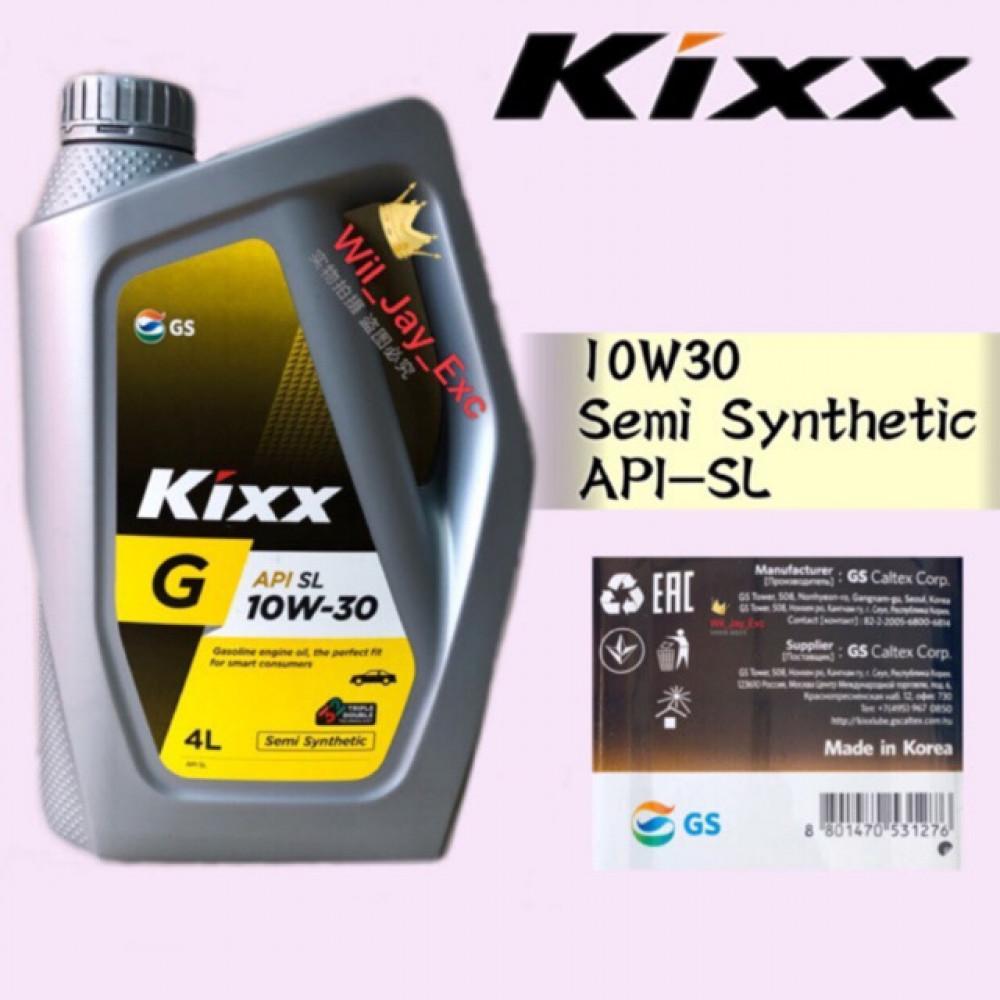 4 LITER KIXX G 10W30 ENGINE OIL SEMI SYNTHETIC API SL