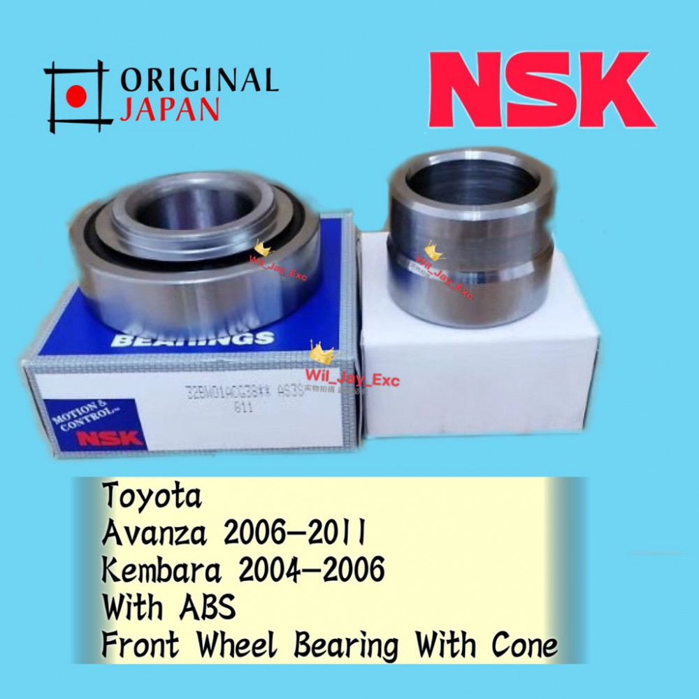 TOYOTA AVANZA 32BW01ACG38 PERODUA KEMBARA REAR WHEEL BEARING AND CONE WITH ABS NSK JAPAN