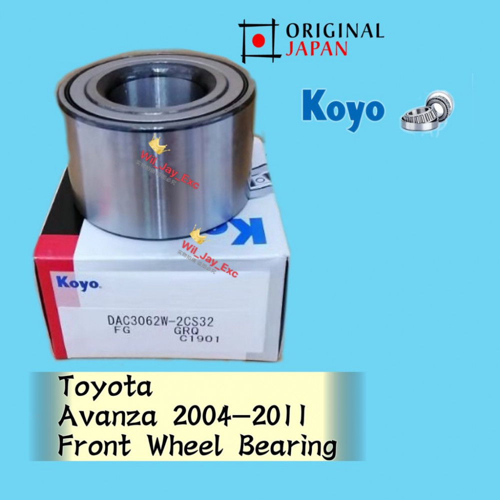 TOYOTA AVANZA DAC3062W-2CS32 FRONT WHEEL BEARING KOYO JAPAN