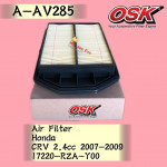 OSK AIR FILTER A-AV285 HONDA CRV CR-V 2.4CC 2007-2009 A-NAV343