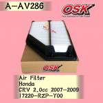 OSK AIR FILTER A-AV286 HONDA CRV CR-V 2.0CC 2007-2009