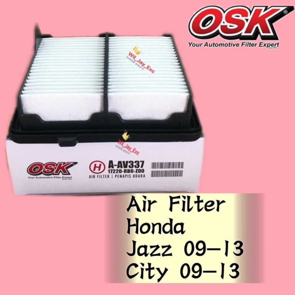 OSK AIR FILTER A-NAV337 HONDA JAZZ, CITY 2009-2013