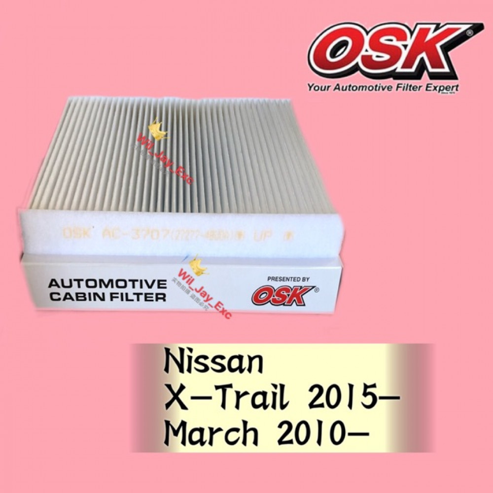 OSK CABIN FILTER AC-3707 NISSAN X-TRAIL, MARCH AIR COND FILTER