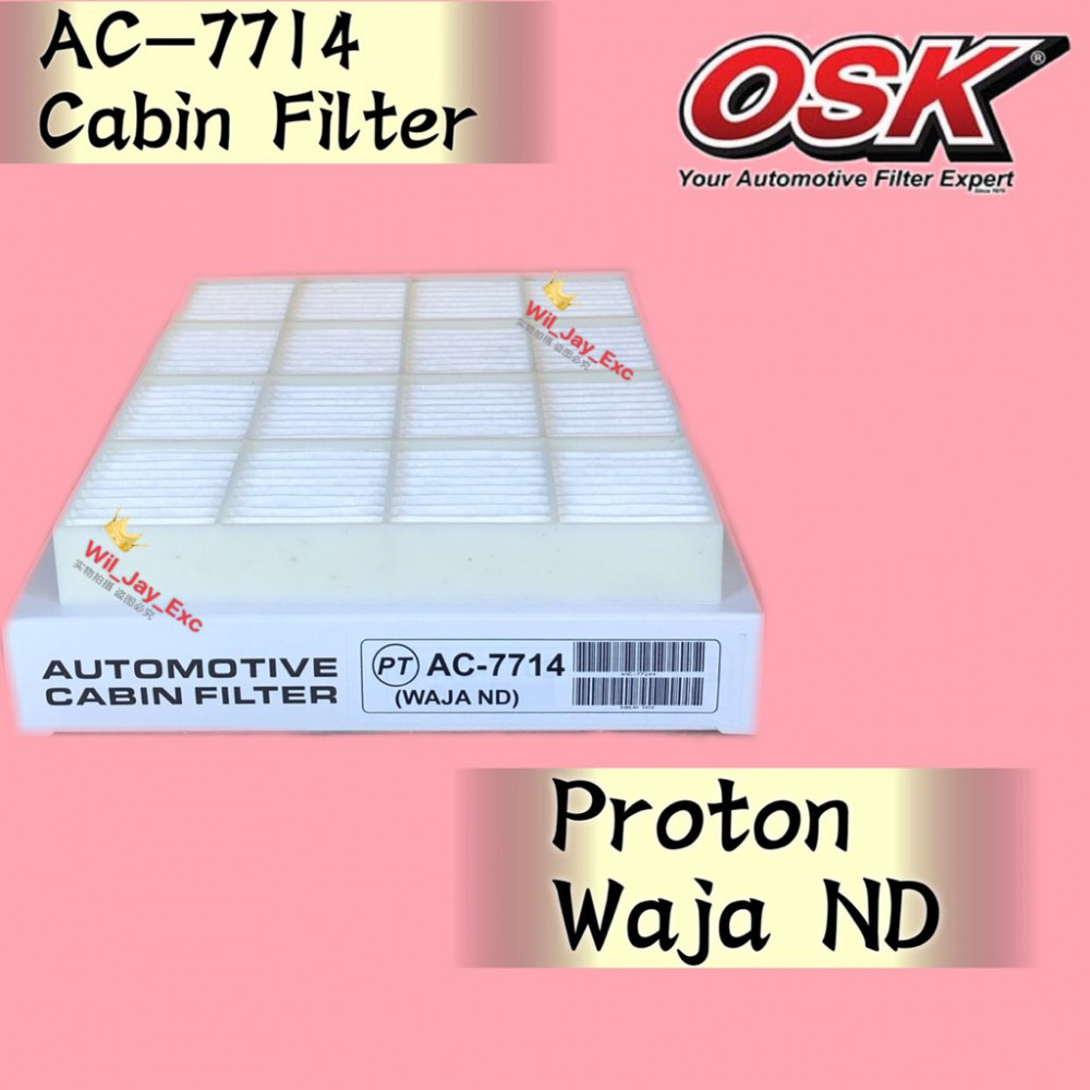OSK CABIN FILTER WAJA ND DENSO TYPE AC-7714 AIR COND FILTER