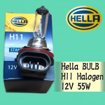 HELLA STANDARD H11 12V 55W HALOGEN BULB 8GH 178 555-111 CAR LIGHT