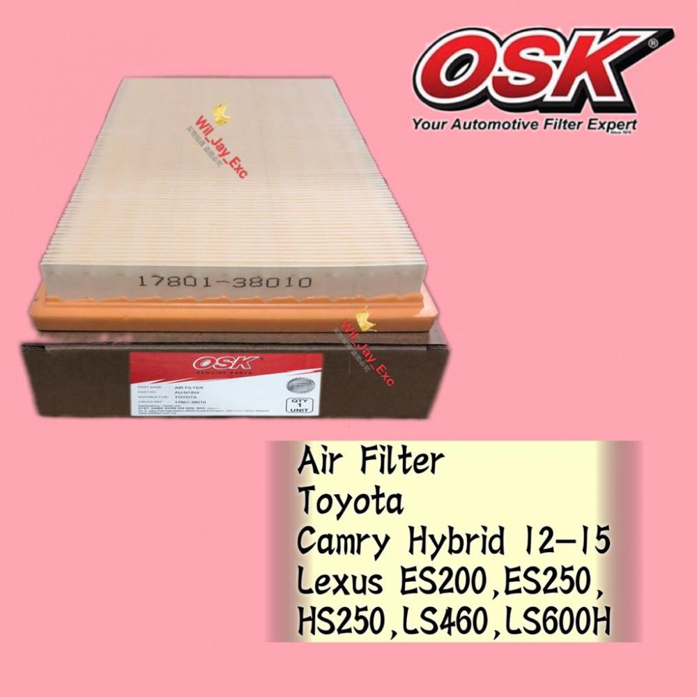 OSK AIR FILTER AU-N1804 TOYOTA CAMRY HYBRID,LEXUS ES200,ES250,HS250,LS460,LS600H
