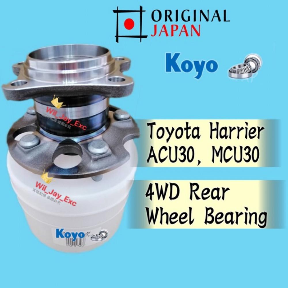 TOYOTA HARRIER 4WD REAR WHEEL BEARING ACU30,MCU30 (KOYO JAPAN)