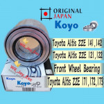 TOYOTA ALTIS FRONT WHEEL BEARING ZZE 121/122. ZRE 171,172,173 (KOYO JAPAN)